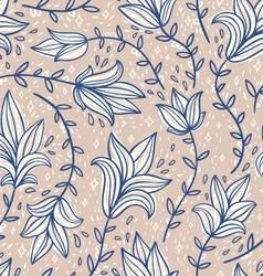 Vintage doodle pattern vector image vector image