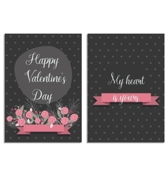 Love collection with 2 cards templates for vector