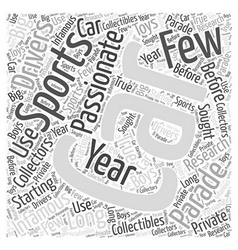 Sc new sports cars word cloud concept vector