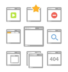 Web browser icons isolated on white vector