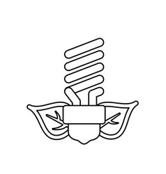 Fluorescent light bulb leaves vector