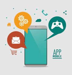 Apps and smartphone gadget vector