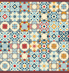 gorgeous seamless pattern white colorful moroccan vector image