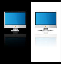 Monitor flat icon vector