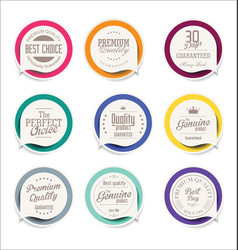 Abstract modern label collection 2 vector