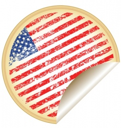 Sticker with usa flag vector