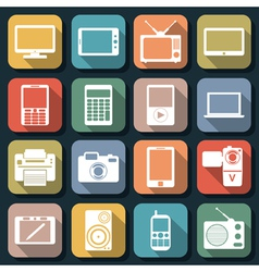 Electronic flat web icons vector