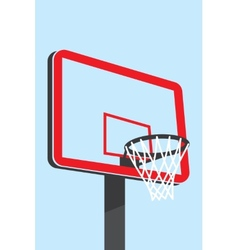 Basketball backboard silhouette vector