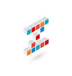 3d cube letter z logo icon design template vector