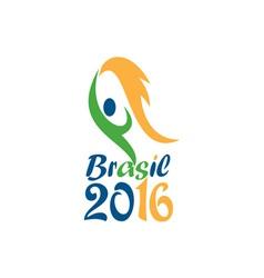 Brasil 2016 Flames Summer Games vector image
