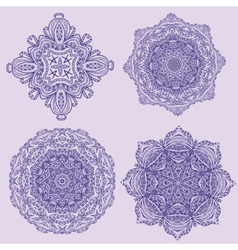 lacy arabesque designs vector image