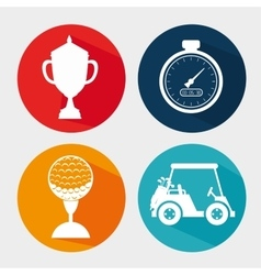 Golf club sport game graphic vector image