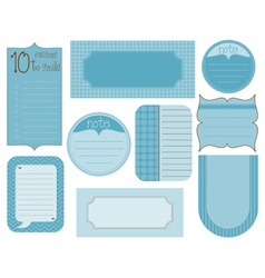 Set of design elements - vintage frames and tags vector