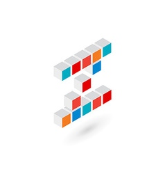 3d cube letter z logo icon design template vector