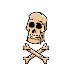 Skull And Cross Unclean Line Art vector image