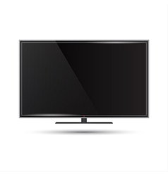 A modern flat screen televi vector