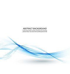 Abstract color wave design element blue wave vector