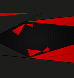 abstract geometric black and red stripes with vector image vector image