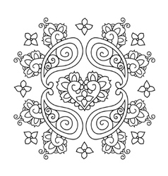 Abstract Mendie Mandala vector image