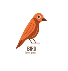 cartoon forest bird logo vector image