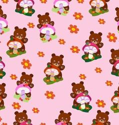 Children seamless Bears for girls vector image vector image