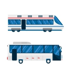City bus and train subway vector