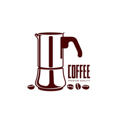 coffee kettle flat icon isolated vector image
