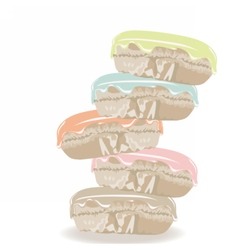 Colorful realistic macaroons vector