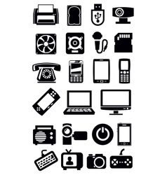 electronic devices icon vector image vector image