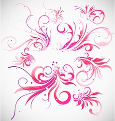 Floral decoration collection vector image