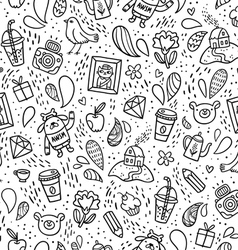 Fun doodle pattern vector image vector image