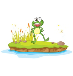 Happy Cartoon Frog vector image