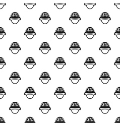 Helmet with goggles pattern simple style vector
