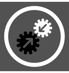 Integration flat black and white colors rounded vector