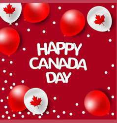 party balloons for national day of canada vector image vector image