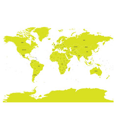 political map of world with in green eps10 vector image