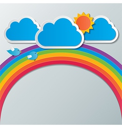 Rainbow sky background vector