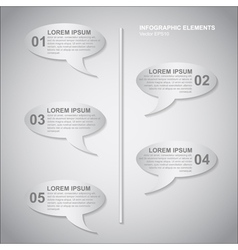 Speech bubbles infoinfographic vector
