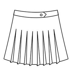 Tennis female skirt icon outline style vector
