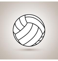 Volleyball ball design vector