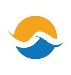 Wave logo template vector