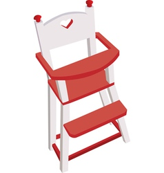 Wooden high chair vector