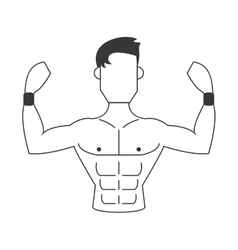 Strong man icon vector