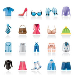 Fashion and clothing and accessories icons vector