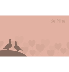 Valentine of two bird landscape vector