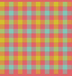Check tablecloth seamless pattern vector