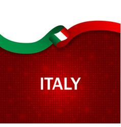 italy sport style flag ribbon particle style vector image