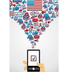 USA elections online voting vector image