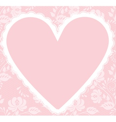 Lace rose pattern and heart vector