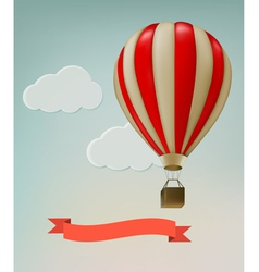 Retro background with colorful air balloons and vector